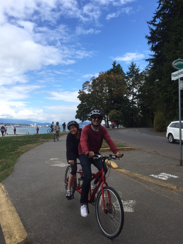 Riding a Tandem Bike around Stanley Park